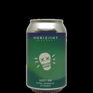 Horizont Selfish Games Hazy IPA Citra, Amarillo, Mosaic 0,33L can