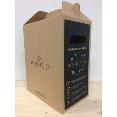 6 db-os Zárt Karton Díszdoboz - max 6 db sörhöz ajánlott