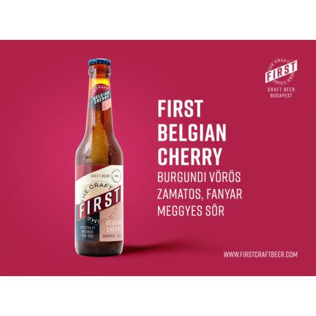 First - Belgian Cherry (Üveges) 0,33L