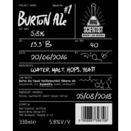 Mad Scientist Burton Ale