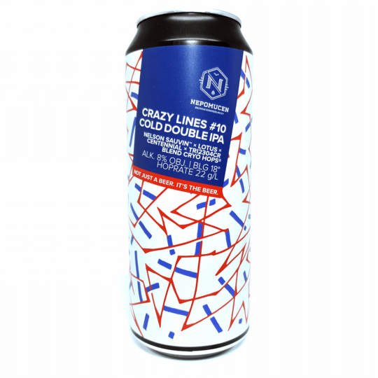 Nepomucen Crazy Lines #10 Cold Bouble IPA 0,5L