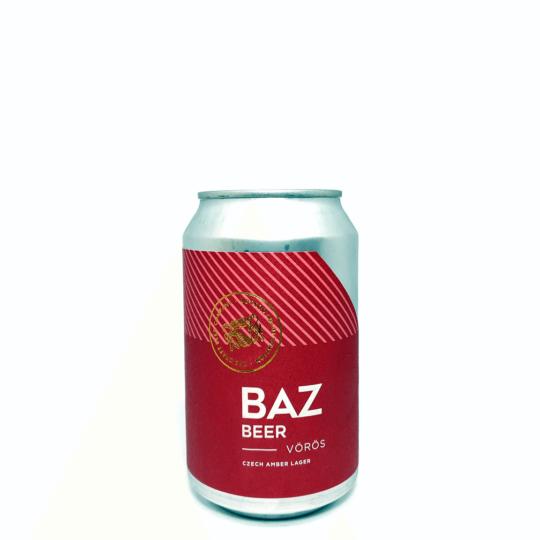BAZ Beer Vörös 0,33L can