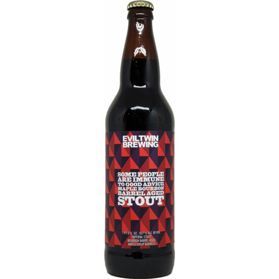 Evil Twin Brewing Maple Bourbon Barrel-Aged Some People are Immune to Good Advice 0,65L