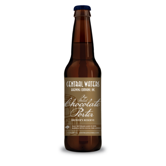 Central Waters Brewing Co. Rye Barrel Chocolate Porter Vintage 2020 0,355L