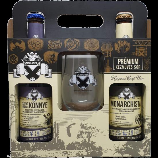 Szent András Sörfőzde 2 sör + Pohár díszcsomag