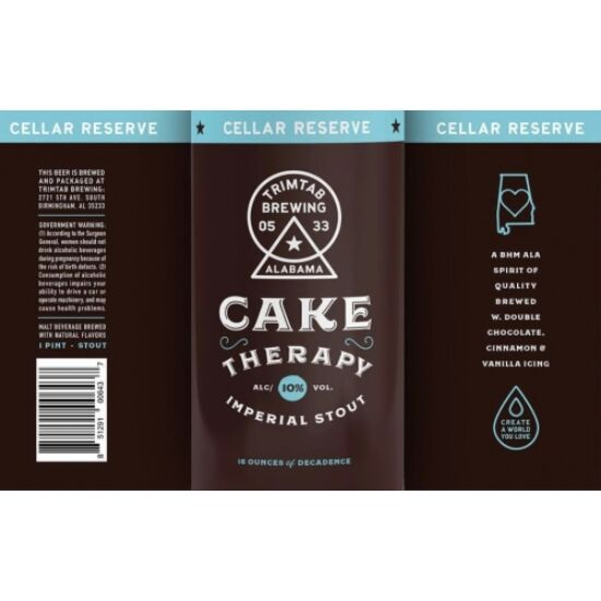 TrimTab Brewing Co. Cake Therapy Chocolate Cake Stout 0,473L